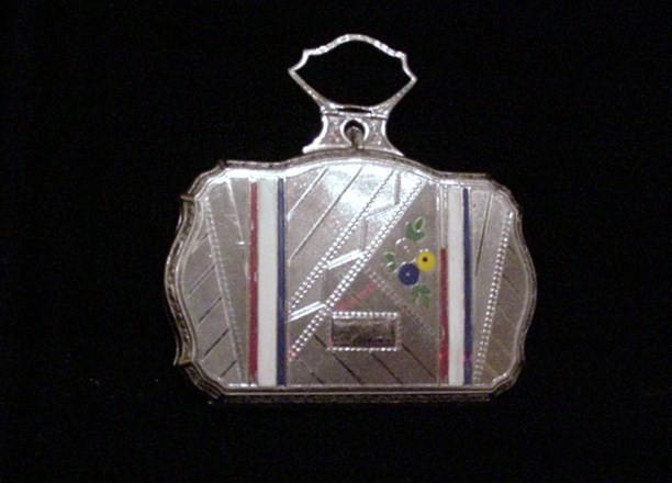 Vintage Compact Purse 1920s Art Deco Purse Vintage Purse Powder Compact Silver