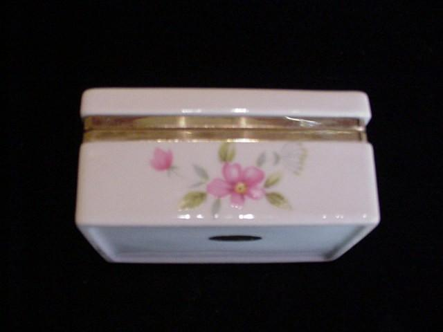Vintage Jewelry Box Trinket Box Ceramic Box Floral Box Porcelain Box