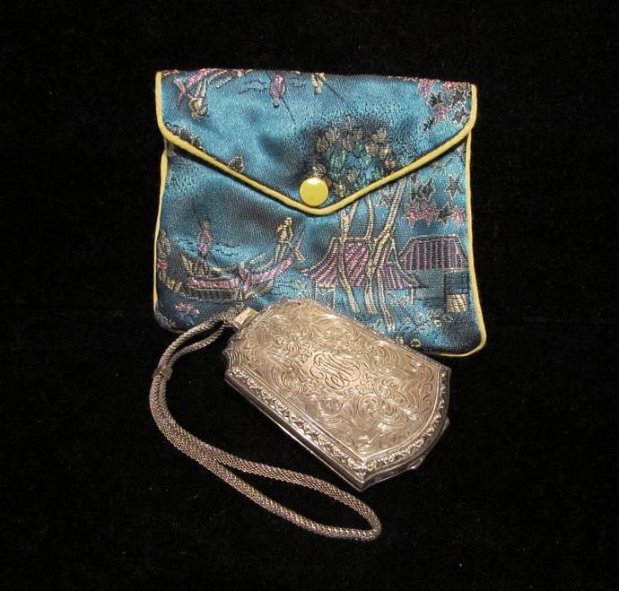 1900s Sterling Silver Compact Purse  Powder Compact Change Purse Coin Purse