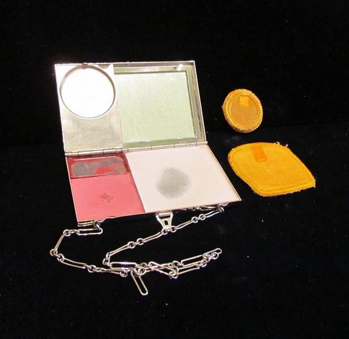Vintage Compact Purse 1910 Guilloche Dance Purse Wristlet Compact