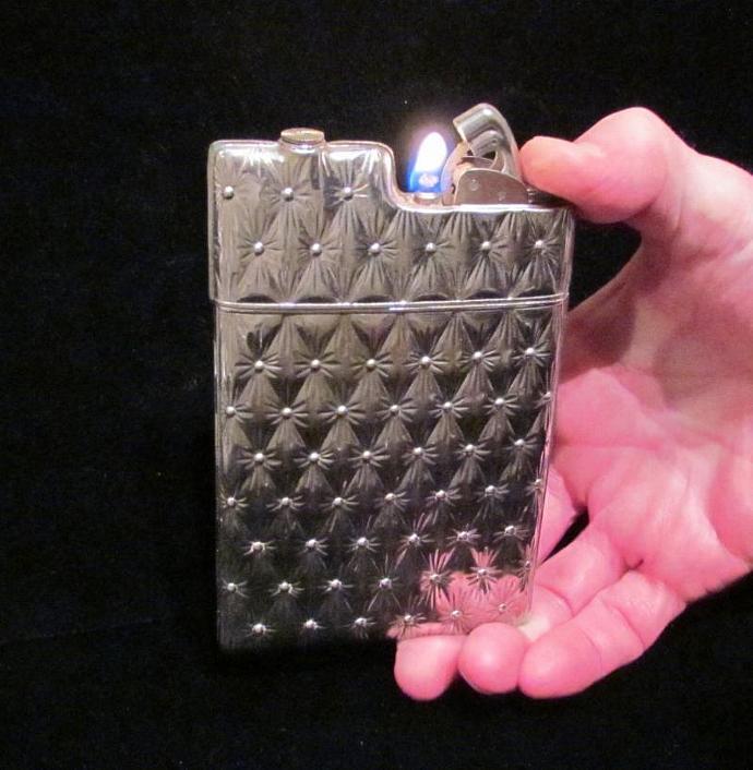 Silver Case Lighter Evans Case Lighter Vintage Cigarette Case Lighter Art Deco