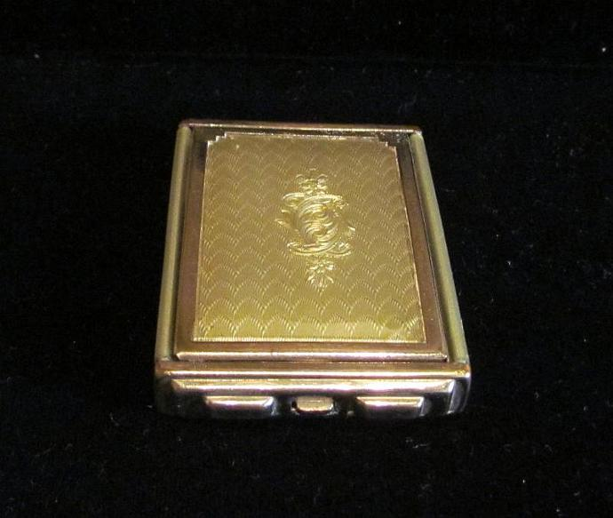 Art Deco Girey Compact Vintage Guilloche Celluloid Compact 1930s Powder Rouge