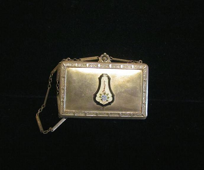 Dance Purse 1926 Compact Purse D F Briggs Compact Silver Compact Purse Guilloche