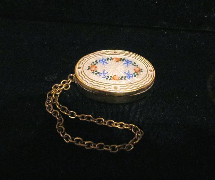 1800's Compact Purse Antique Compact Guilloche Compact Powder Compact Dance