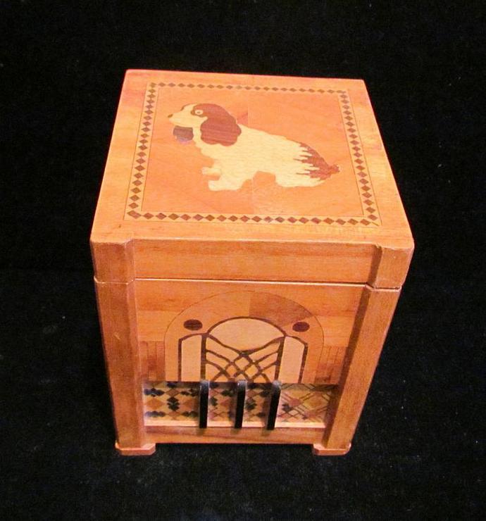 1940's Cigarette Dispenser Cigarette Case Vintage Cigarette Box Wooden Cigarette