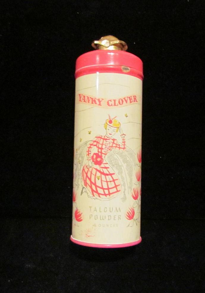 Richard Hudnut Powder Tin Yanky Clover 1930's Perfume Powder FULL & UNUSED