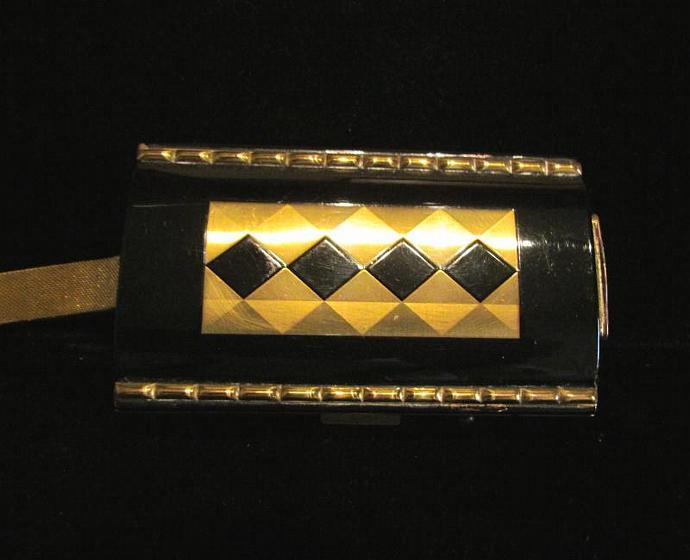 Vintage Enamel Compact Purse Cigarette Case Art Deco Purse 1930's Compact Enamel
