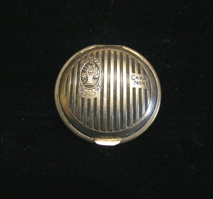1920's Cara Nome Langlois Powder Compact Silver Mirror Compact