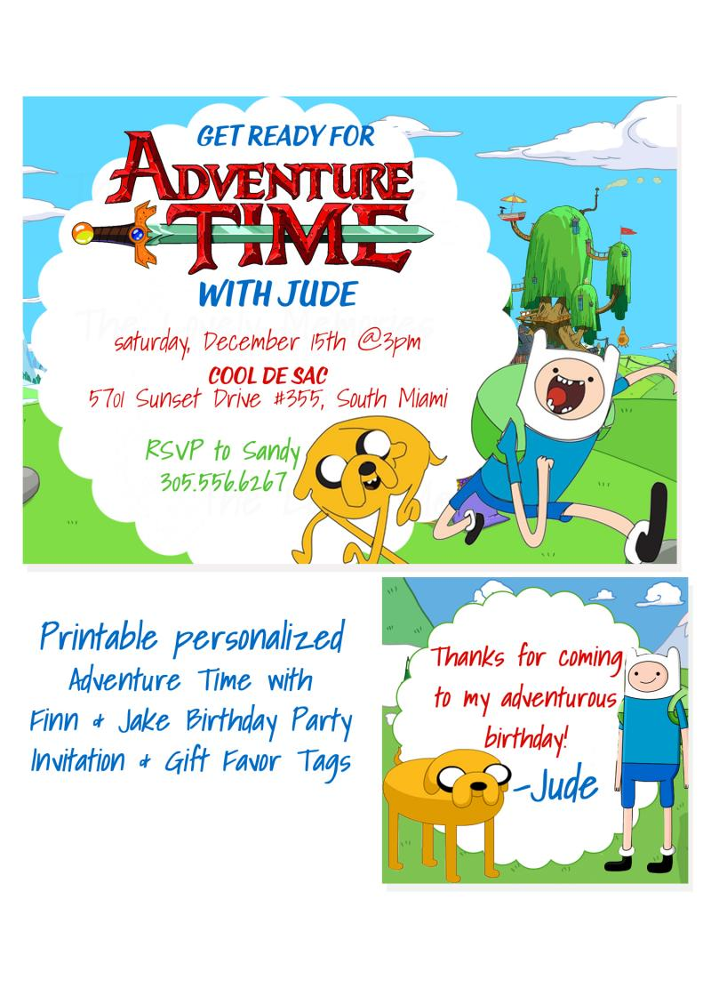 Adventure Time Personalized Printable by thelovelymemories on Zibbet