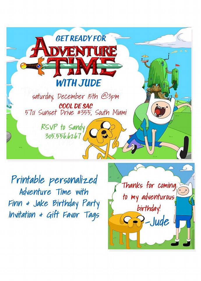 Adventure Time Personalized Printable | thelovelymemories