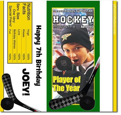 Magazine Cover Candy Bar Wrappers **DOWNLOAD JPG IMMEDIATELY**