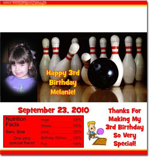 Bowling Candy Bar Wrappers **DOWNLOAD JPG IMMEDIATELY**