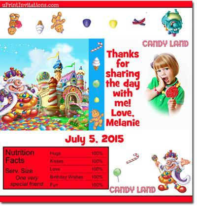 Candyland Candy Bar Wrappers **DOWNLOAD JPG IMMEDIATELY**
