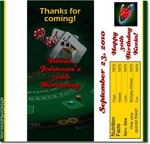 Casino Candy Bar Wrappers **DOWNLOAD JPG IMMEDIATELY**