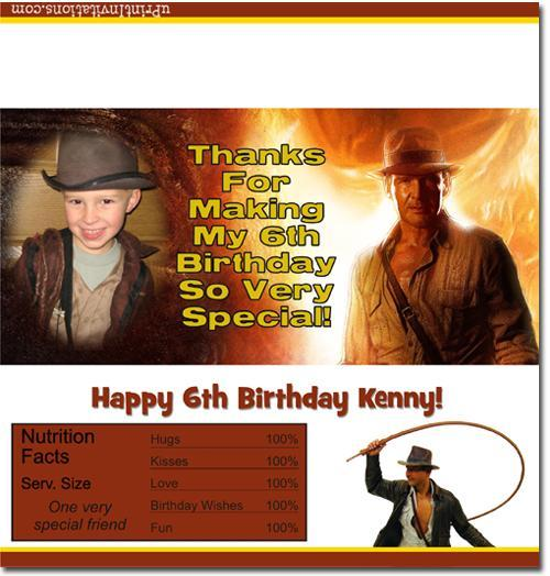 Indiana Jones Candy Bar Wrappers **DOWNLOAD JPG IMMEDIATELY**