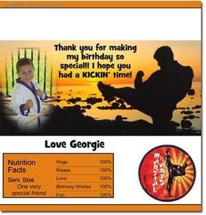 Karate Candy Bar Wrappers **DOWNLOAD JPG IMMEDIATELY**