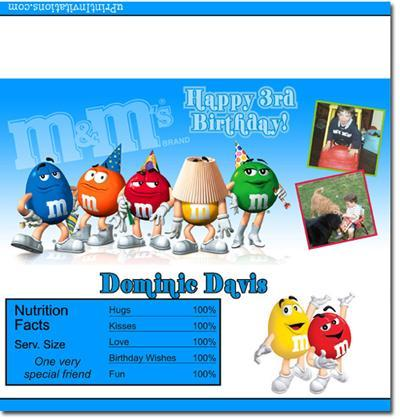 M&M Candy Bar Wrappers **DOWNLOAD JPG IMMEDIATELY**