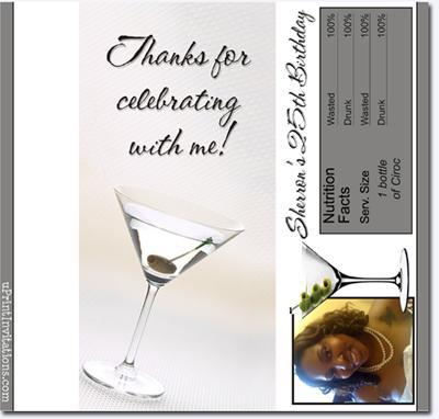 Martini Candy Bar Wrappers **DOWNLOAD JPG IMMEDIATELY**