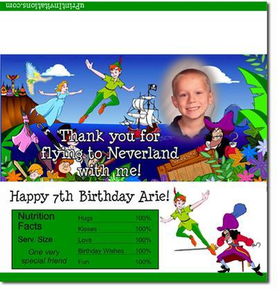 Peter Pan Candy Bar Wrappers **DOWNLOAD JPG IMMEDIATELY**