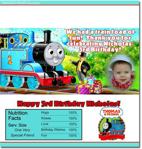Thomas the Tank Engine Candy Bar Wrappers **DOWNLOAD JPG IMMEDIATELY**