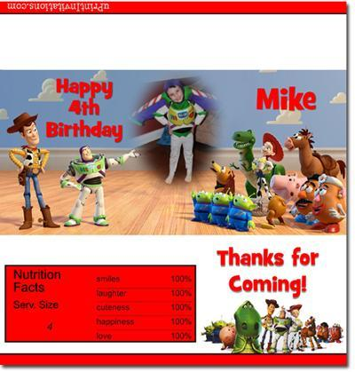 Toy Story Candy Bar Wrappers **DOWNLOAD JPG IMMEDIATELY**