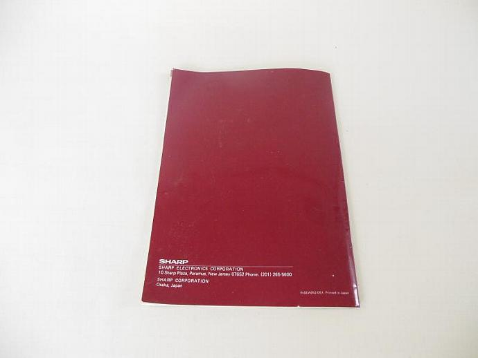 Sharp Half Pint Instruction Manual R-4260 Microwave Oven Recipe Booklet