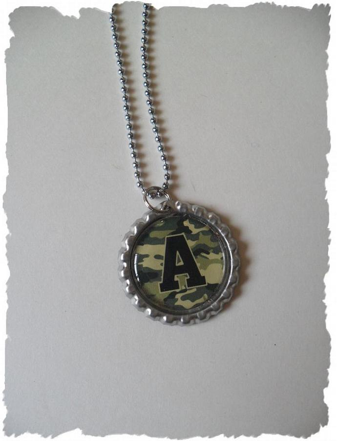 Your Choice Of Initial A Bottlecap Necklace Pick your Style