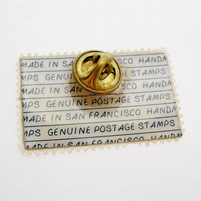 Vintage 5 Cent Homemakers Cross-stitch Stamp Brooch Tack Pin - Genuine US