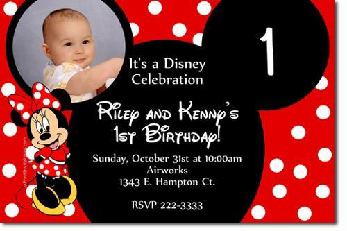 Minnie Mouse Birthday Invitations DOWNLOAD JPG IMMEDIATELY