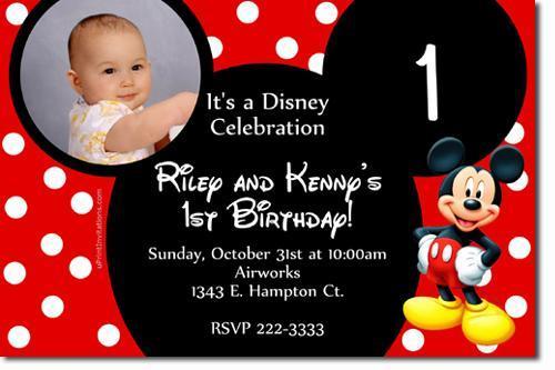 Mickey Mouse Birthday Invitations **DOWNLOAD JPG IMMEDIATELY**