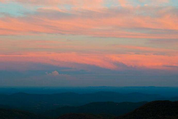Pastel Skies East of the Blue Ridge Parkway at Doughton Park
