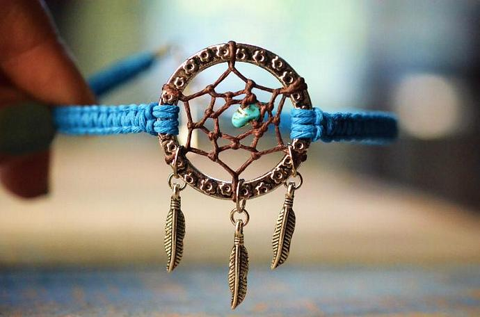 catcher dream anklet beaded silver wid a fmt s collection p journee dreamcatcher turquoise hei women sterling