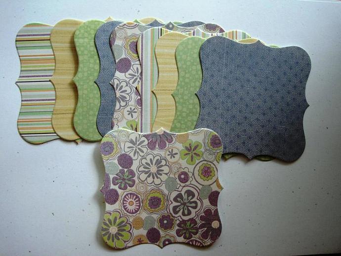 Chipboard mini scrapbook album with design paper CM3101