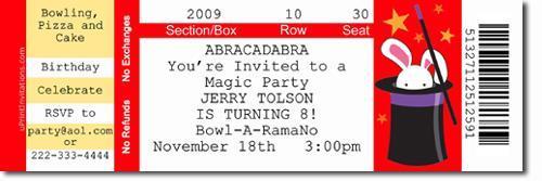 Magic Show Birthday Invitations (DOWNLOAD JPG IMMEDIATELY)