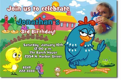 Galinha Pintadinha Birthday Invitations **(DOWNLOAD JPG IMMEDIATELY)**