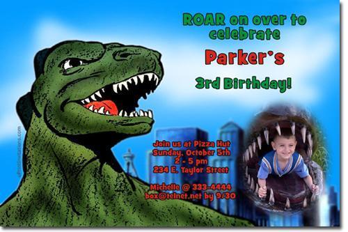 Godzilla Birthday Invitations **(DOWNLOAD JPG IMMEDIATELY)**