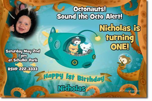 Octonauts Birthday Invitations **(DOWNLOAD JPG IMMEDIATELY)**