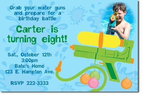 Swimming Pool Birthday Invitations (Download JPG Immediately)