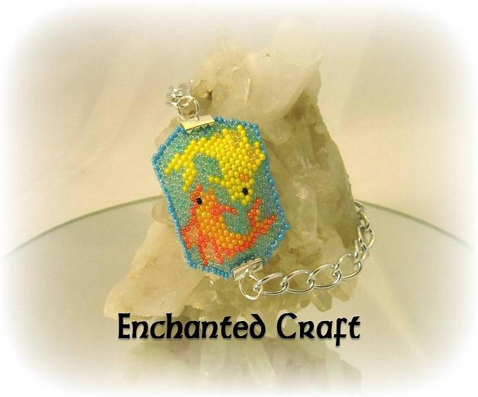 Pisces fish beaded bracelet