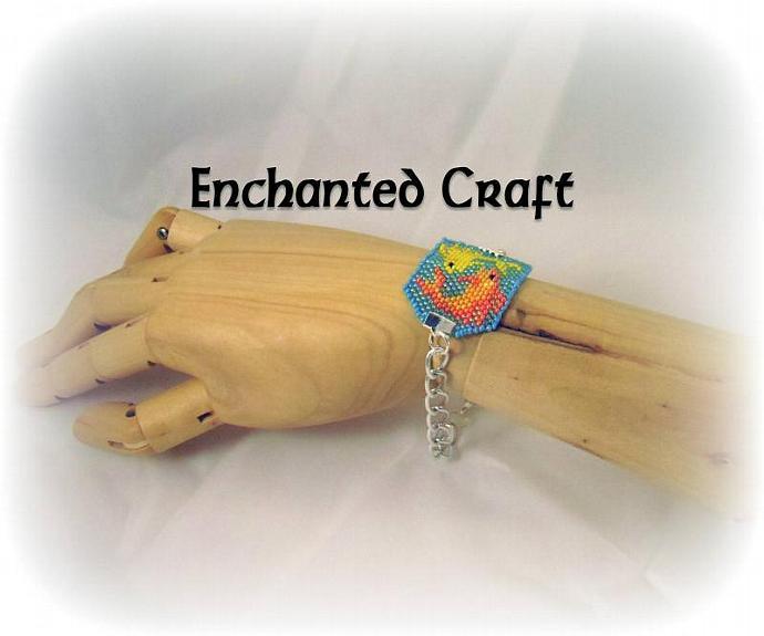 Pisces fish beaded bracelet