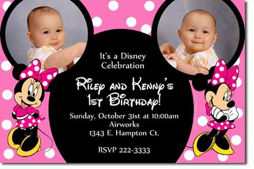 Minnie Mouse Birthday Invitations **Download Immediately**