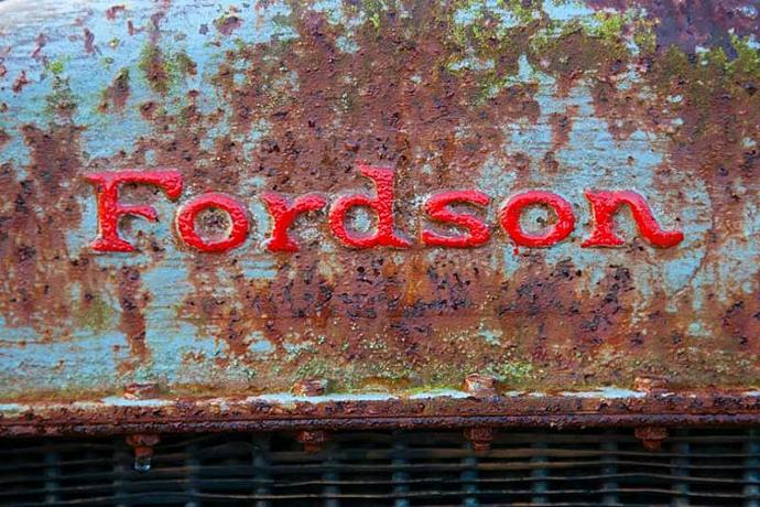 Fordson Tractor Logo fine Art Photo