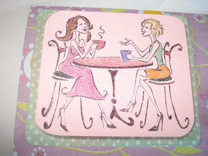 Girl Friends - Note Card
