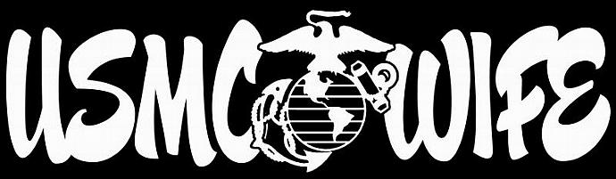 USMC WIFE VINYL DECAL Marine Wife, Marine Corps Wife, Decal Sticker For Car
