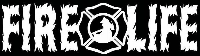 Fire Life Flames Fireman Firefighter Vinyl Decal Sticker Fire Fighter