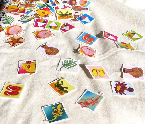 Hawaiian Stickers, Cute Tropical Stickers Set of 12, You Pick the Designs