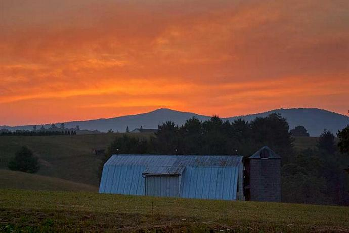 Sunset at Bullhead Mountain Blue Ridge Parkway Photo