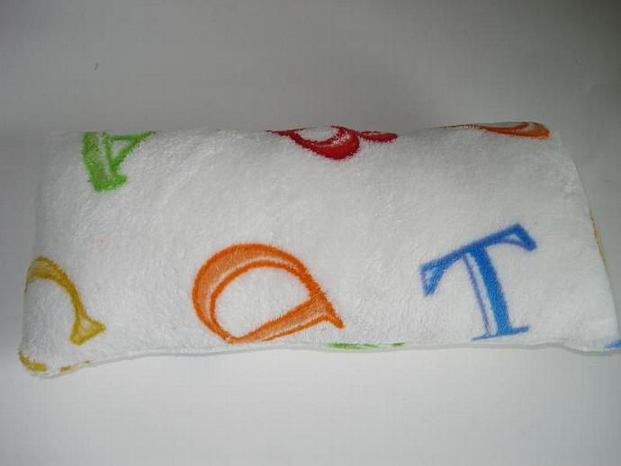 Colorful Alphabet Cuddle Travel Pillow