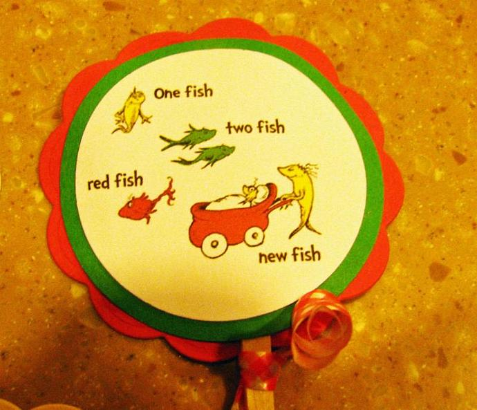 BRAND NEW- Dr Seuss- One Fish- Two Fish- NEW by ScrapPantry on Zibbet
