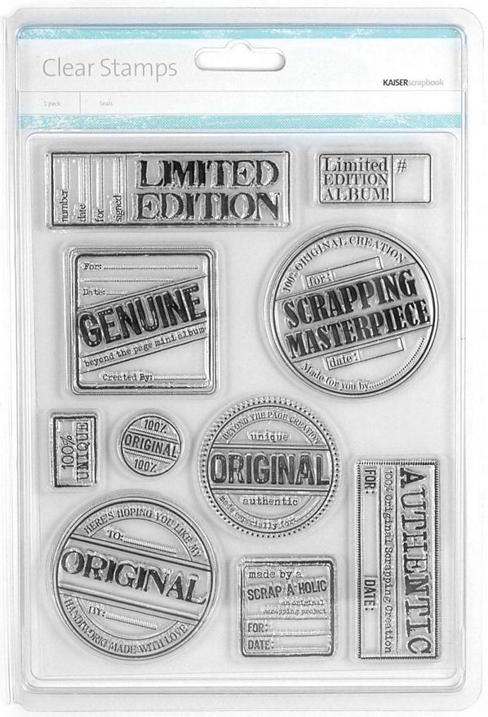NEW- KaiserCraft -Seals- Clear Stamps - Brand NEW- Only 1.99 To Ship-